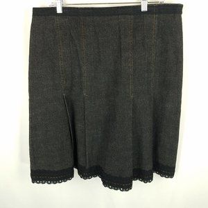 Doncaster skirt black demin and lace 12